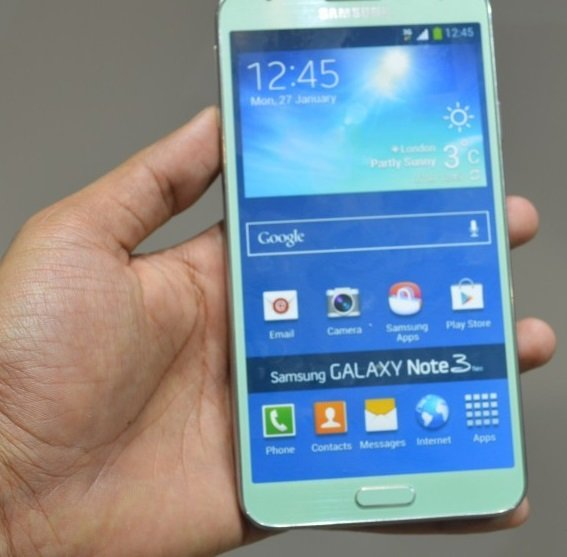 galaxy note3 mintgreen