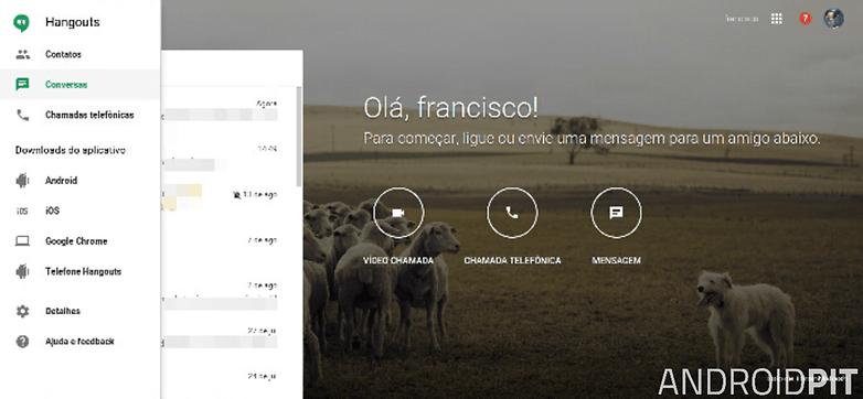hangouts web menu
