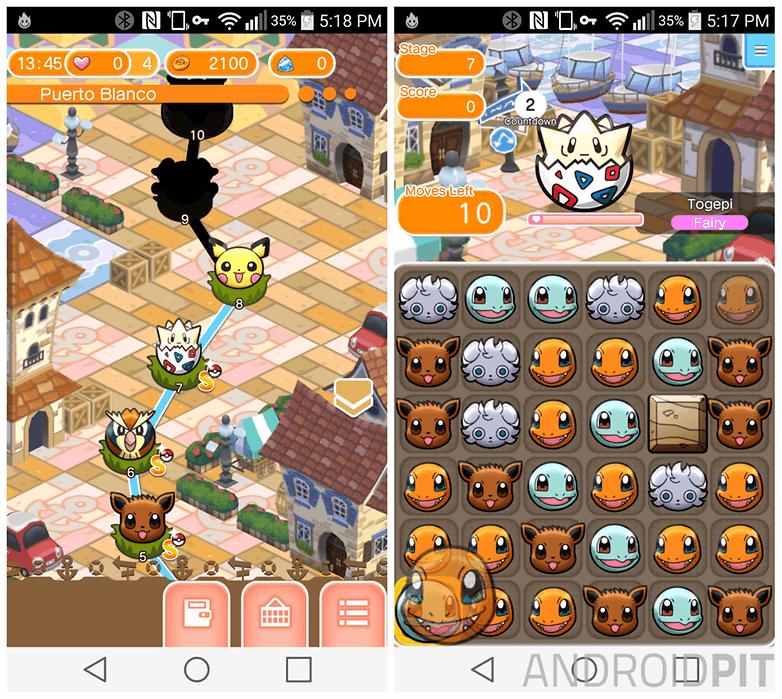 pokemon shuffle gameplay