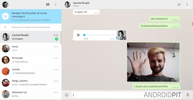 whatsapp web conversa