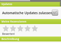Market Update für Android Version kleiner 2.2