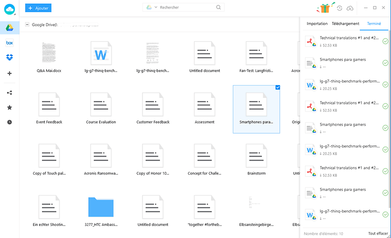 anytrans downloaded files FR
