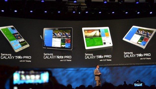 Galaxy Note Pro e Tab Pro, i nuovi tablet presentati da Samsung
