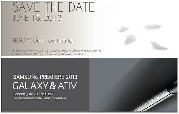 Huawei samsung invitations teaser