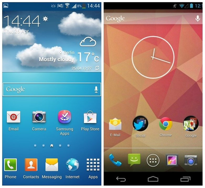 touchwiz android homescreen