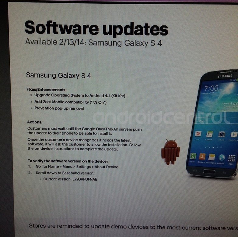 androidpit galaxy s4 kitkat update