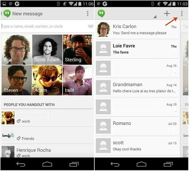 androidpit hangouts delete messages 1