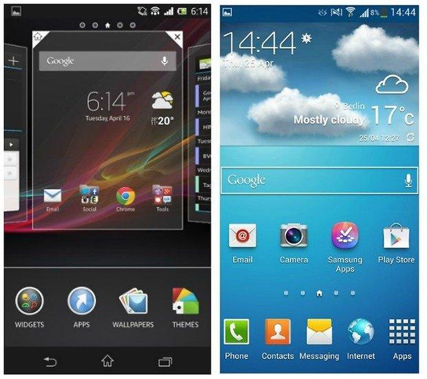Xperia Touchwiz interface