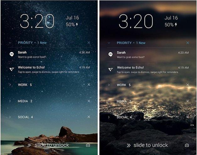 androidpit echo notifications lockscreen
