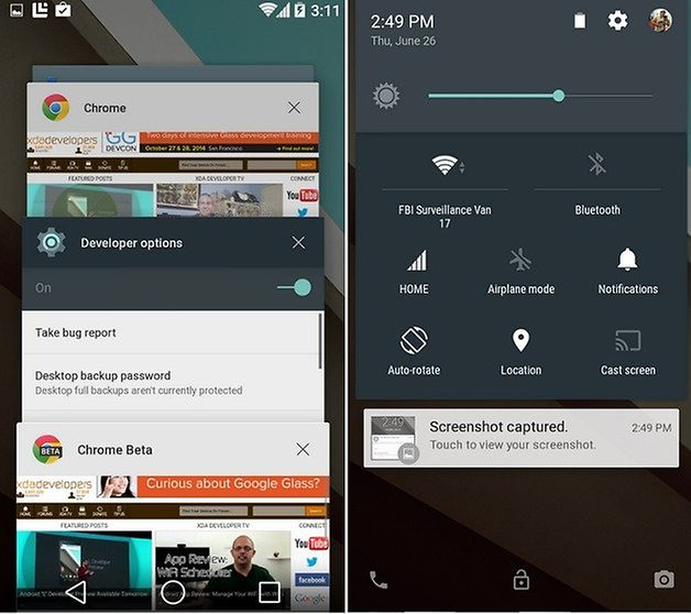 android l recent apps