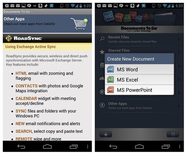 Documents to go full version unlock key for android market for Documents to go app android