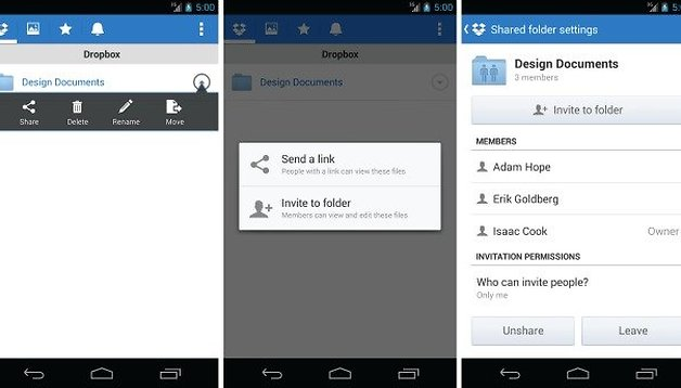 Dropbox gets new feature: share folders with other members