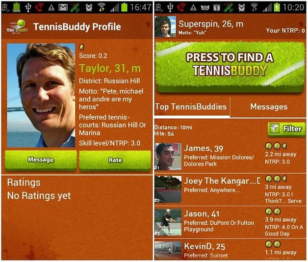 tennis buddy AndroidPIT 1