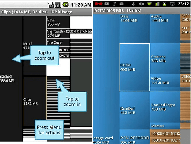 androidpit disk usage