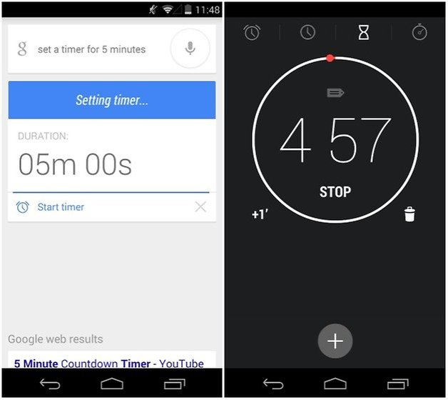androidpit google now timer
