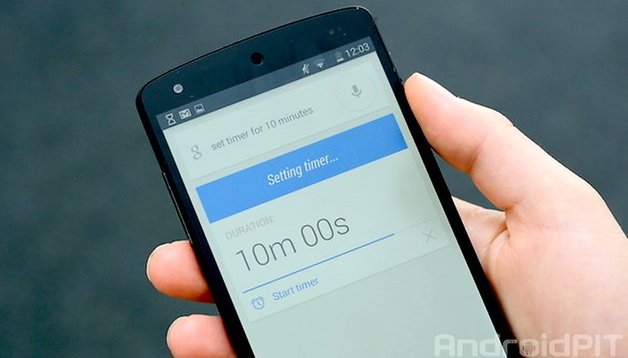 How to set timer hands-free with Google Now on Android