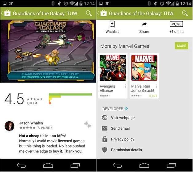androidpit google play store material design 2