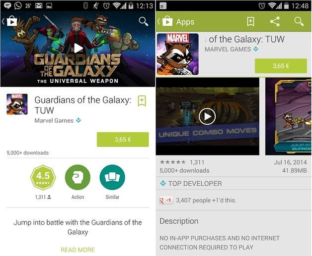 androidpit google play store material design