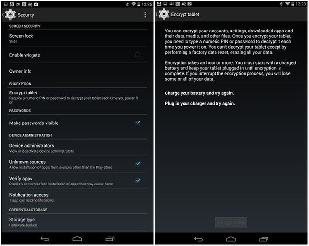 androidpit nexus 7 encryption