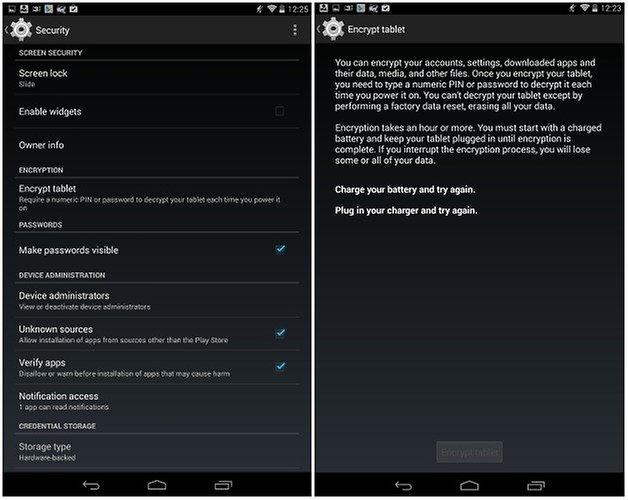 androidpit nexus 7 encryption