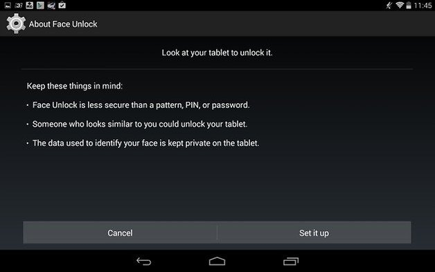 androidpit nexus 7 face unlock