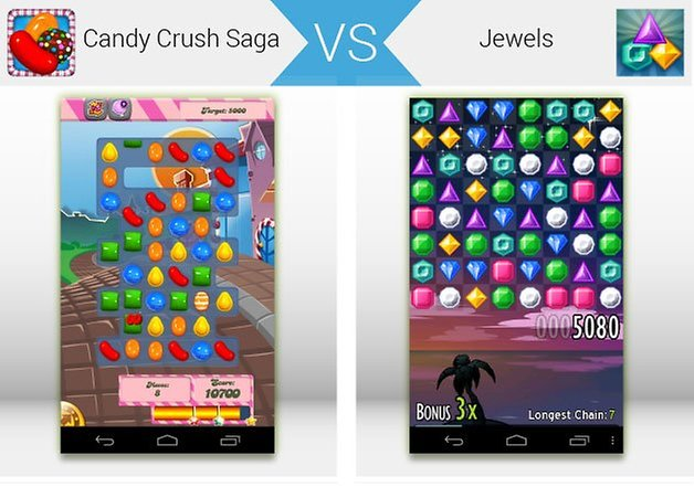 androidpit candy crush saga vs jewels teaser