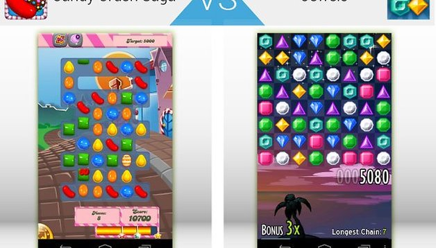 App Wars: Candy Crush Saga vs Jewels - which is the better game?