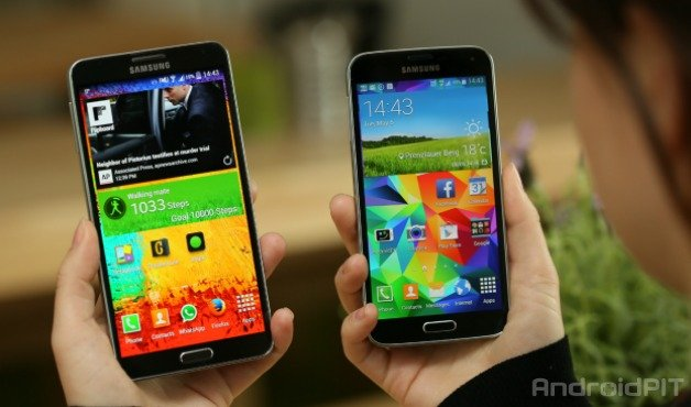 Galaxy S5 vs Galaxy Note 3: Samsung's flagships in a comparison ...