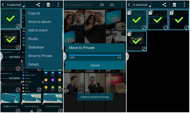 androidpit galaxy s5 private mode 4