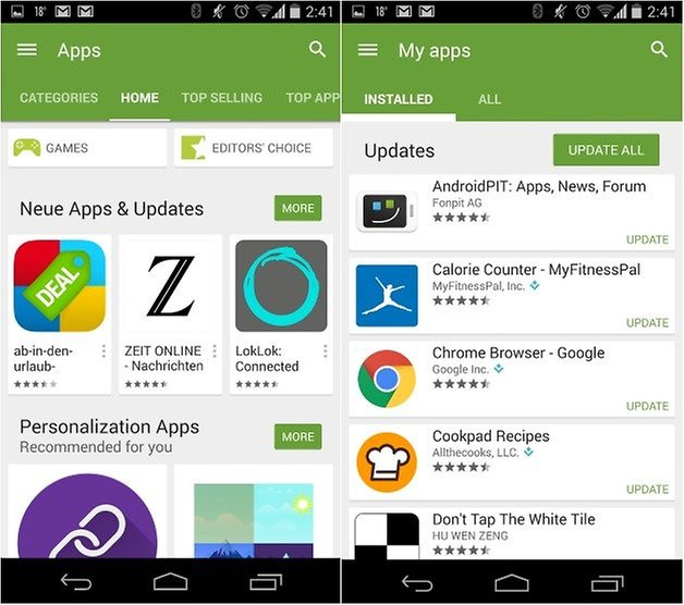 androidpit google play store update version 5 2