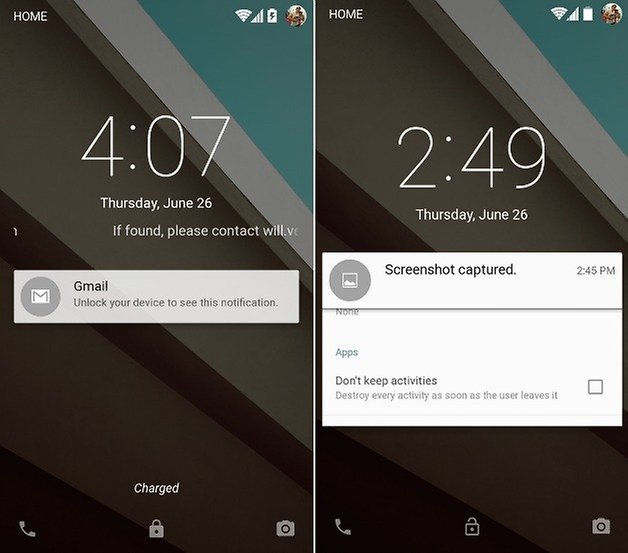 android l lockscreen notifications