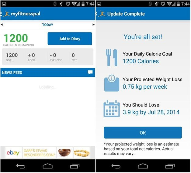 androidpit myfitnesspal
