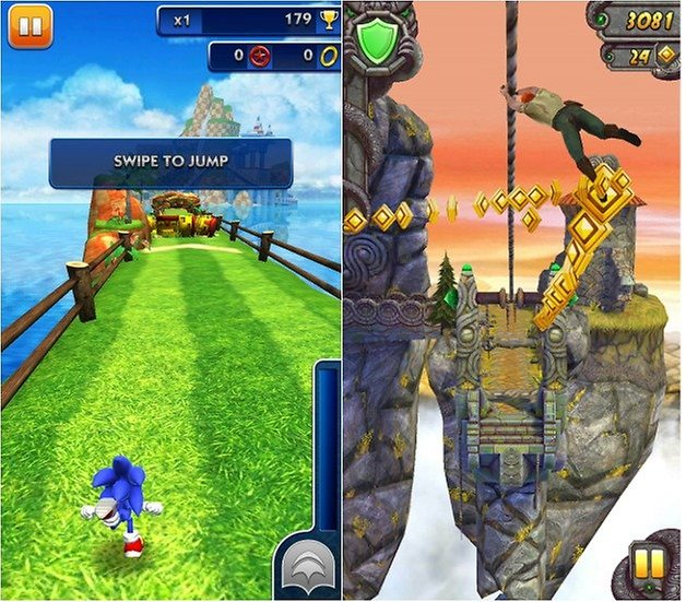 androidpit sonic dash temple run 2