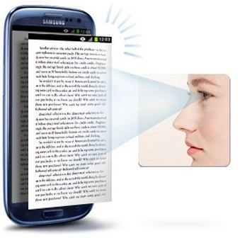 samsung galaxy s iv eye scroll tracking
