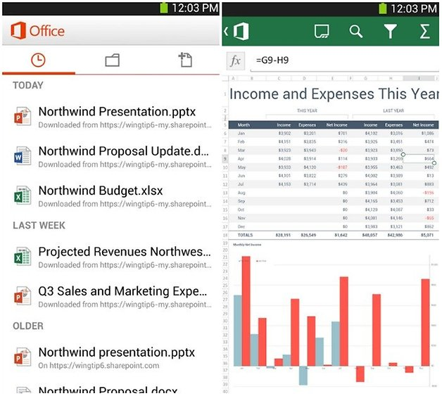 androidpit microsoft office free