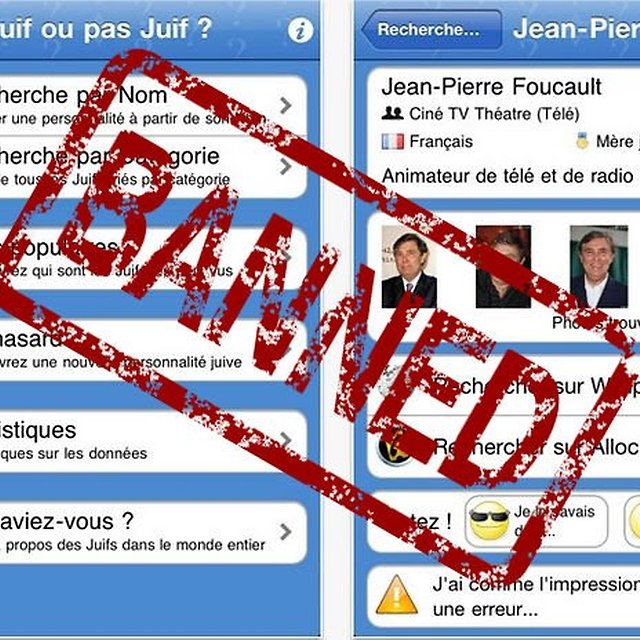 Anti-Semitic App Banned in France, Turns Up On Android