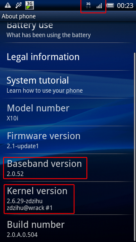Umgangener Bootloader Sony Ericsson Xperia X10
