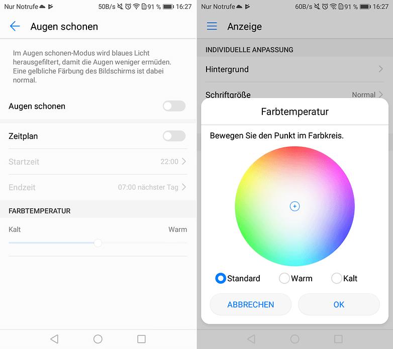 AndroidPIT Honor 6 C Display Settings