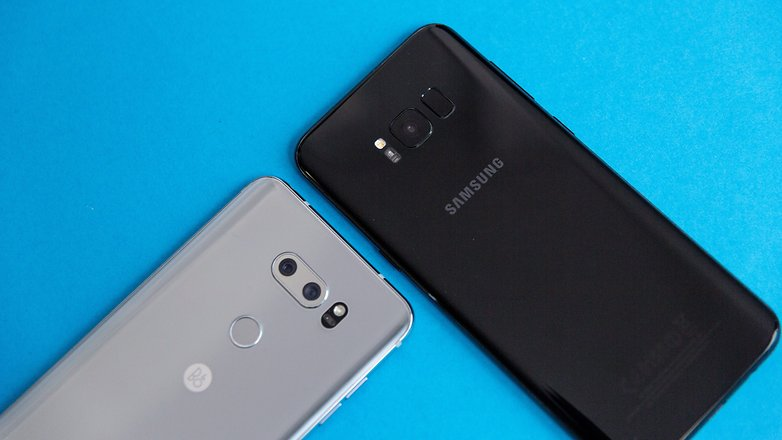 AndroidPIT LG V30 vs Galaxy S8 Plus 1