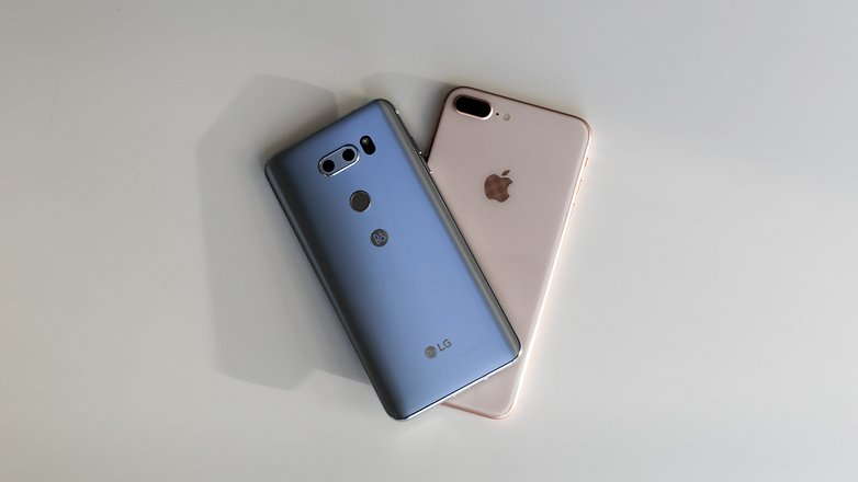 AndroidPIT LG V30 vs iPhone 8 Plus 4