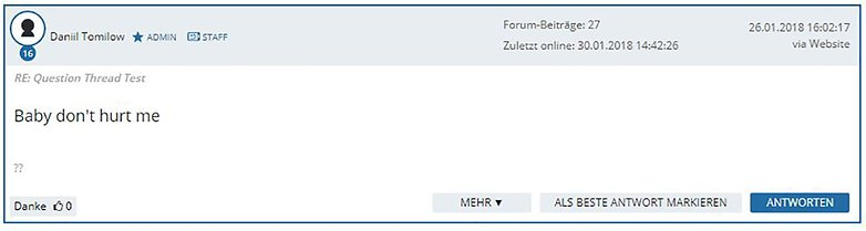 forum neues feature