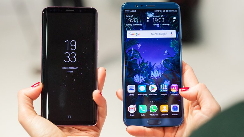 AndroidPIT samsung galaxy s9 vs honor view 10 7275