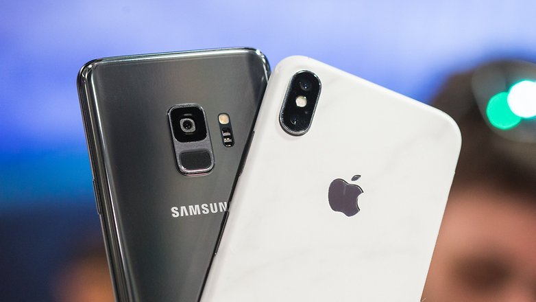 AndroidPIT samsung galaxy s9 vs iphone x 7390