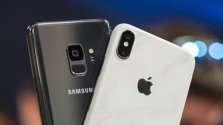 AndroidPIT samsung galaxy s9 vs iphone x 7392