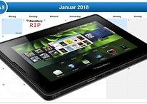 BlackBerry über Tablets: Ein Mann sieht tot