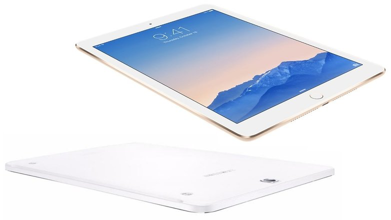 galaxy tab s2 ipad air 2 lying
