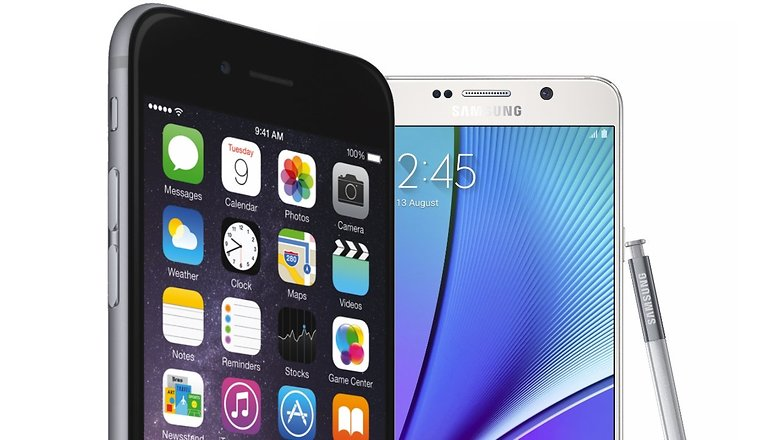 iphone 6s Galaxy Note 5