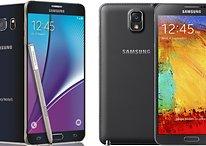 Comparación Samsung Galaxy Note 5 vs Note 3: Salto de generación