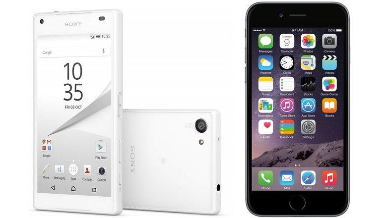 z5 compact iphone 6 hero