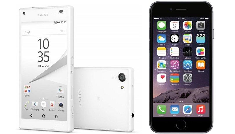 Sony Xperia Z5 Compact vs. iPhone 6: Edel oder günstig?